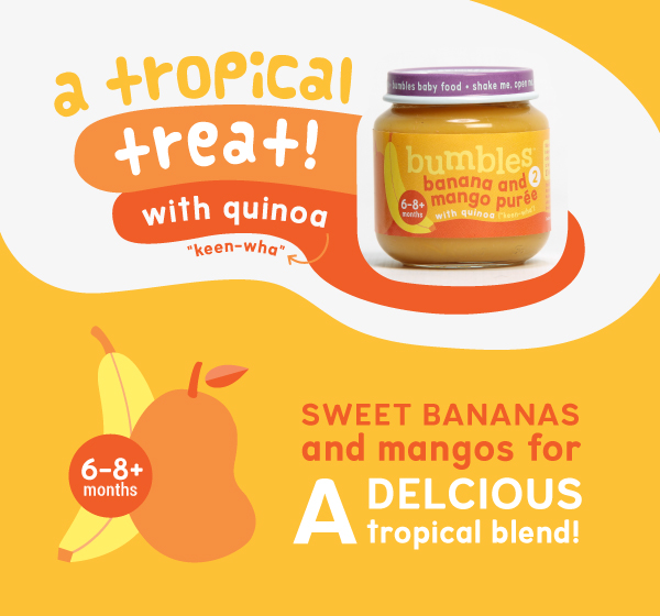 Bumbles Baby Food Mango and Banana puree with Quinoa
